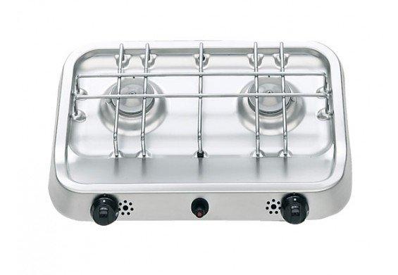 Smev kookplaat - 2 pits - afmeting 380 x 280 mm  Opbouw