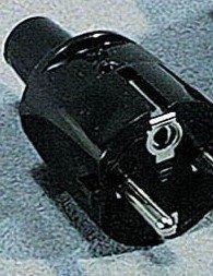 Franse stekker randaarde zwart rubber