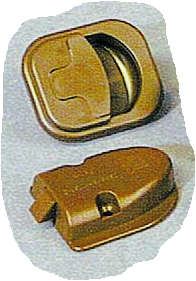 Kastdeurslot bruin