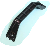 Handgreep 180mm (2 Schroefgaten- ZWART)
