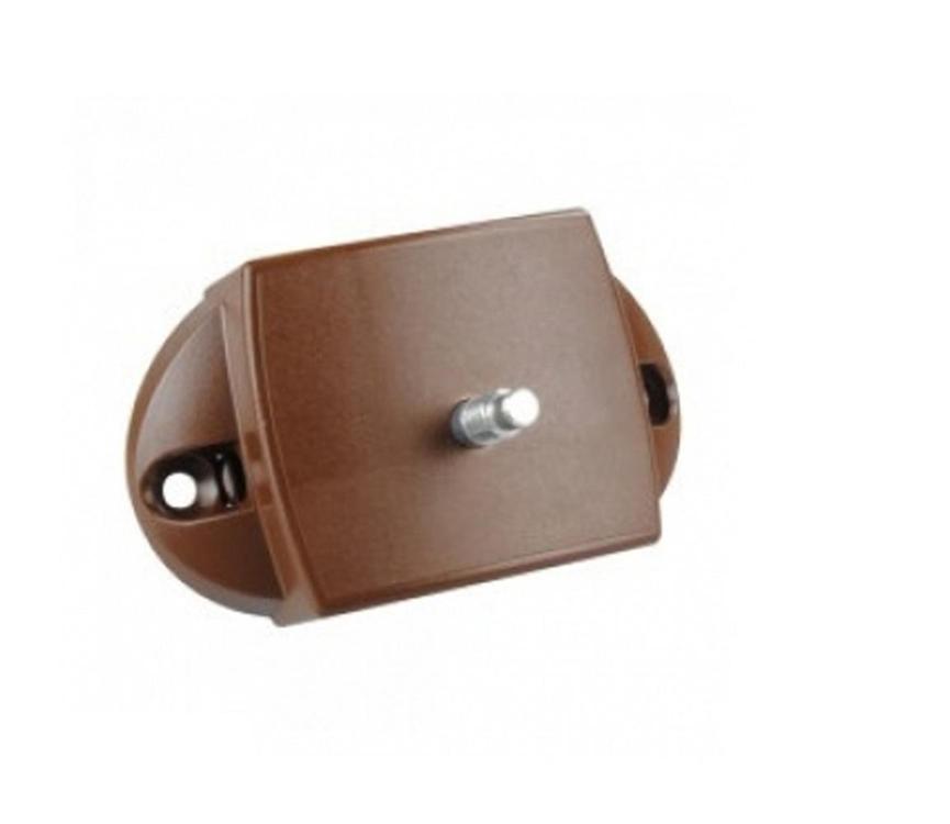 Kast-Toiletdeurslot Push-Lock (2-zijdig-BRUIN) OP=OP