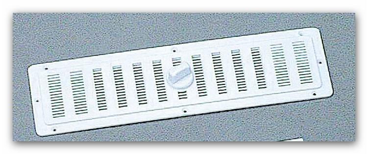 Ventilatierooster Interieur (250x70mm.-WIT)