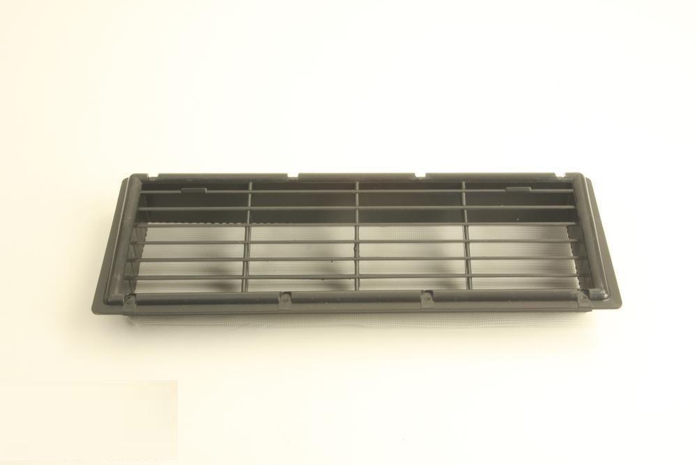 Ventilatierooster inbouw (34x11,5cm- ZWART)