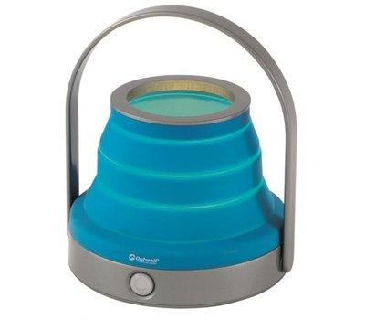 Collaps Amber tafellamp opaal blauw 6xAA