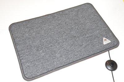 RAK Verwarmde voetenmat 50 x 70 cm  antraciet grijs met drukknop