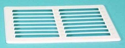 Ventilatierooster opbouw (165x240 mm.-WIT)
