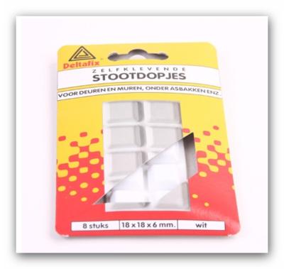 Stootdop wit (8 stuks)