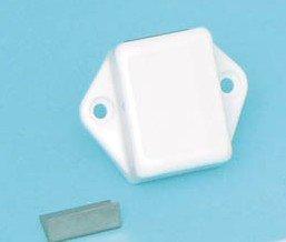 Kast-Toiletdeurslot Push-Lock (1-zijdig-WIT-MINI)