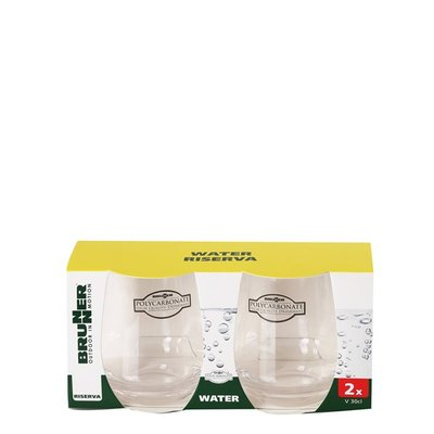 Water glas 30cl 2 stuks -  Brunner Riserva
