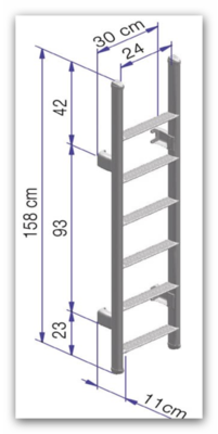 Omni Ladder ( Thule enkel ) 10 treden