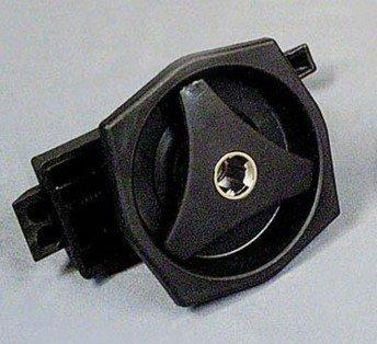 Deurslot kunststof binnen-en buitendeel (zwart)