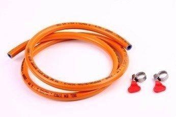 Gasslang met twee slangklemmen (5 mtr.)